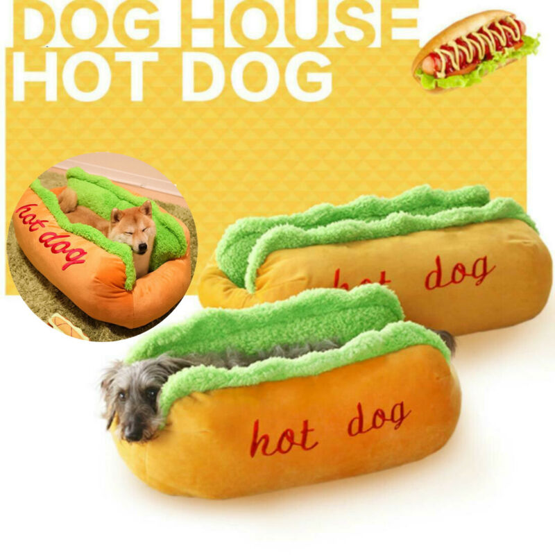 Hot Dog Bed, Bed, Dog Bed, Funny, Gift, Warm, Beds & Furniture, HappyDog, dogs