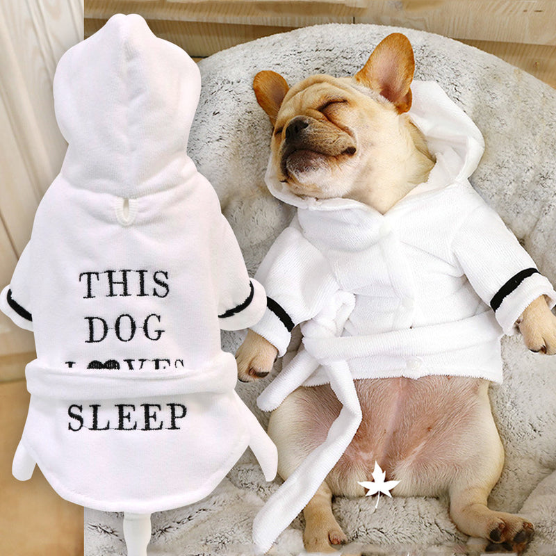 'This Dog Loves Sleep' Hoodie & Robe, Pajamas, Robe, Clothing, Shoes & Accessories, HappyDog, dogs