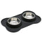 Stainless Steel Bowl Set w/ Anti-Slip Mat, Backpack, Bowl, Food, Set, Spill Resistant Mat, Steel, Water, Bowls & Feeders, HappyDog, dogs