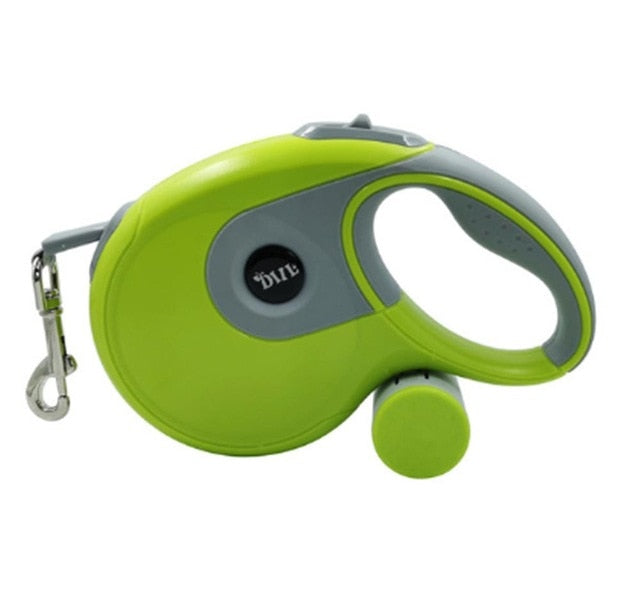 Retractable Leash with Built in Poop Bag Dispenser