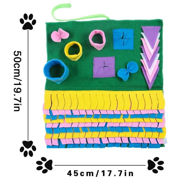 Big Interactive Puzzle Pad & Slow Feeder, Dispenser, Food, Interactive, Mat, Nose, Sniff, Sniffing, Training, Smart Dog IQ, HappyDog, dogs
