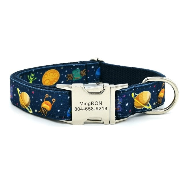 Personalized Space Moon Collar