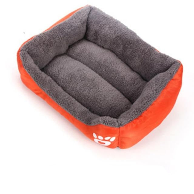 Rectangular Bed With Paw Design, Bed, Comfy, Soft, Beds & Furniture, HappyDog, dogs