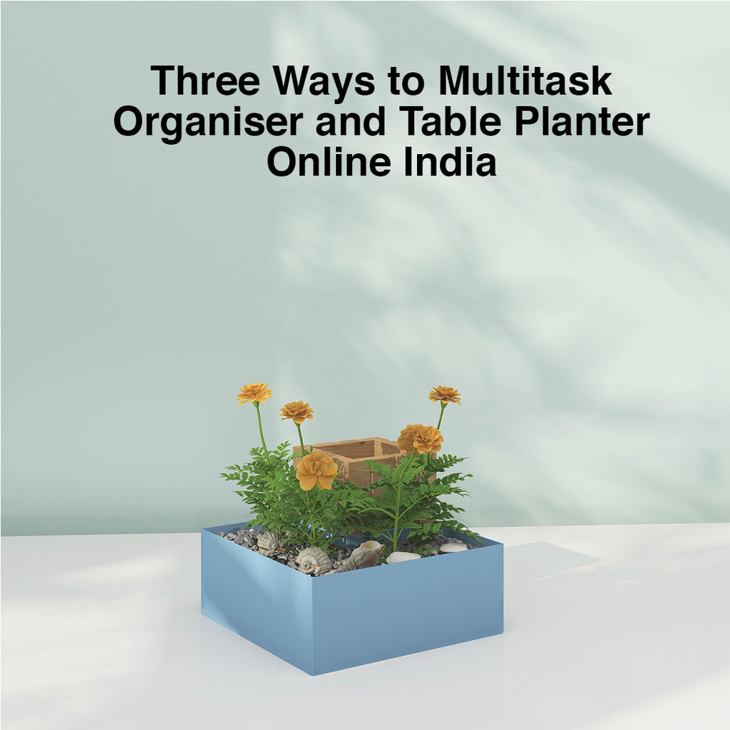 Three Ways to Multitask Organiser and Table Planter Online India | ReStory