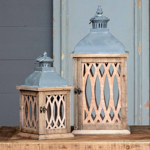 large wooden lanterns for welcome