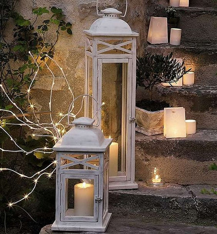 Traditional look wooden lantern