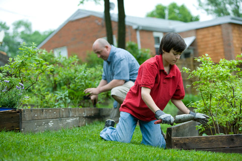 Gardening gives an opportunity to spend time with your children