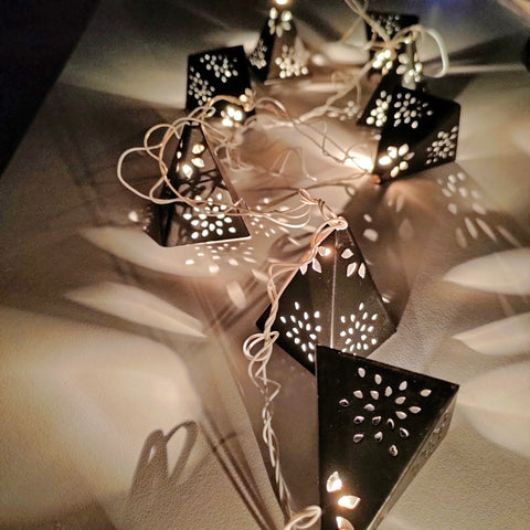 THE LAPPI COLLECTION - Hand crafted Pyramid Fairy lights - FI-CH-PY-1-O
