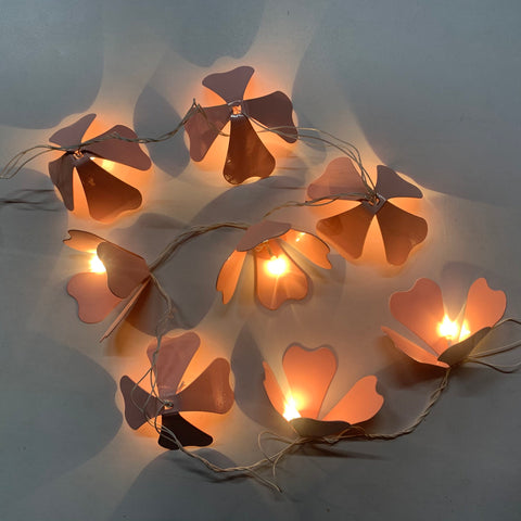 THE LAPPI COLLECTION - Hand crafted Pink Flower Fairy lights - FI-CH-RD-1-O