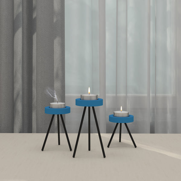 THE LAPPI COLLECTION - Three-legged candle holder set - CD-TB-CL-1-O