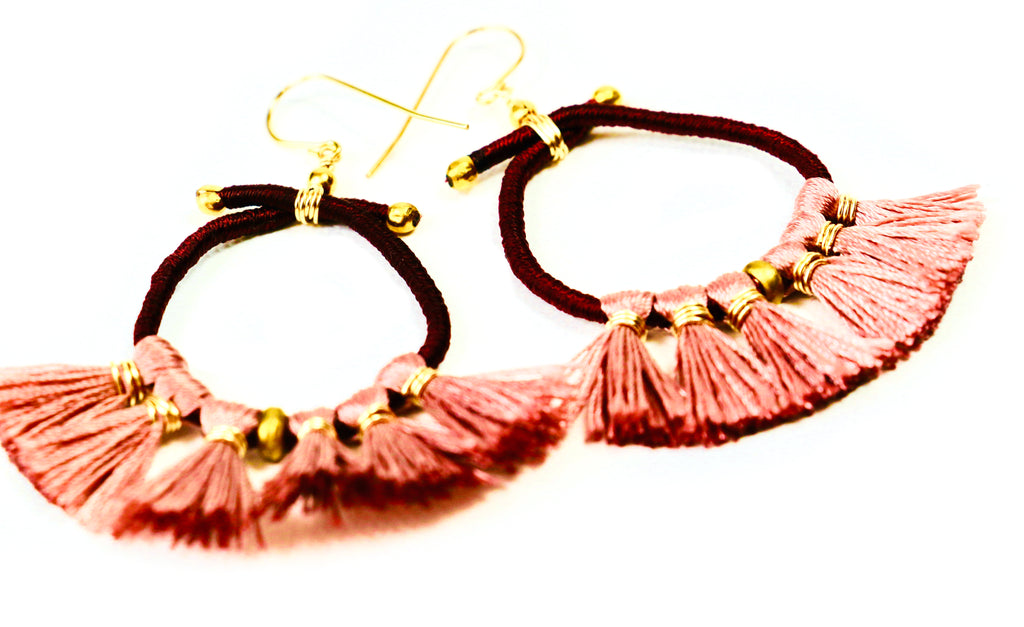 Nikki Tassell Earrings - Rust