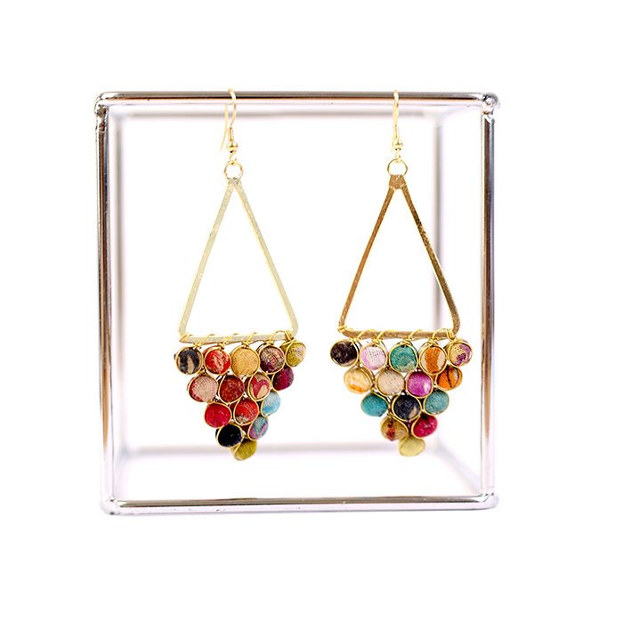 KANTHA CHANDELIER EARRINGS