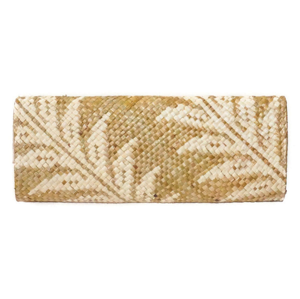 Banago Mayumi palm leaf clutch shop ethical and sustainable accessories