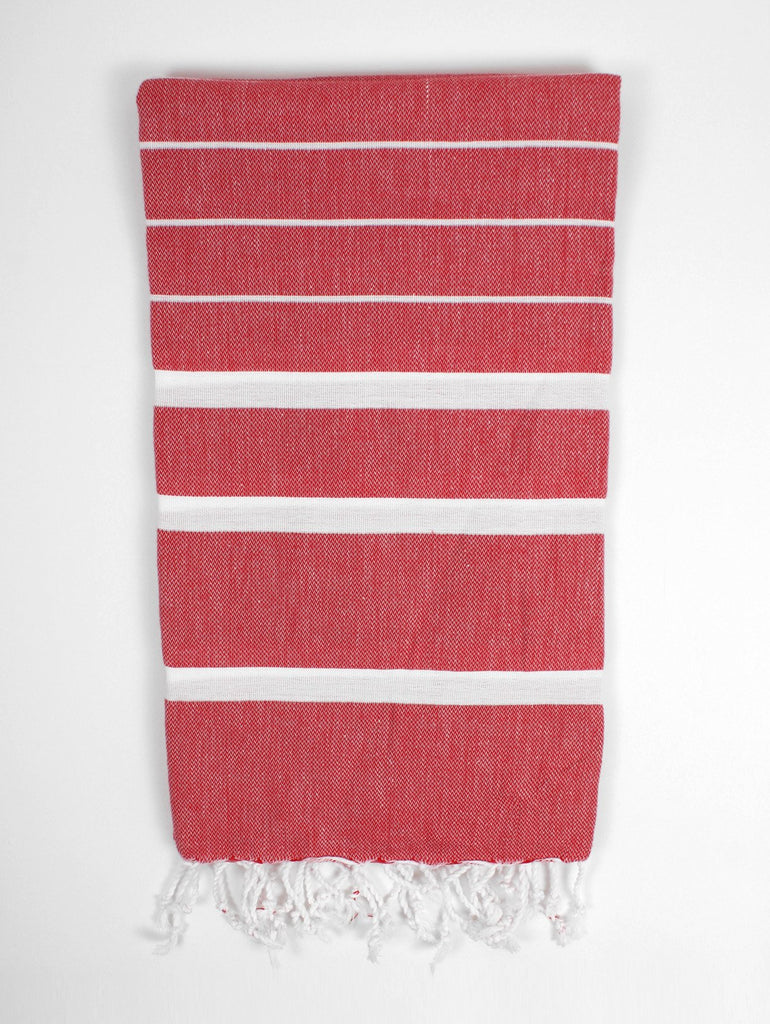 Ibiza Summer Hammam Towel in Lipstick Red