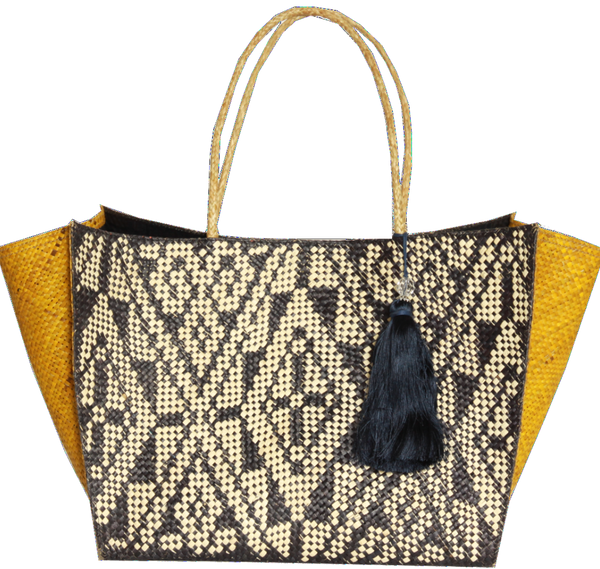 Ethical Sunday Tracker straw tote handmade in The Philippines