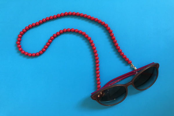 Red Bead Eyewear Chain