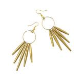 Gold Paper Hoop Dangle Earrings