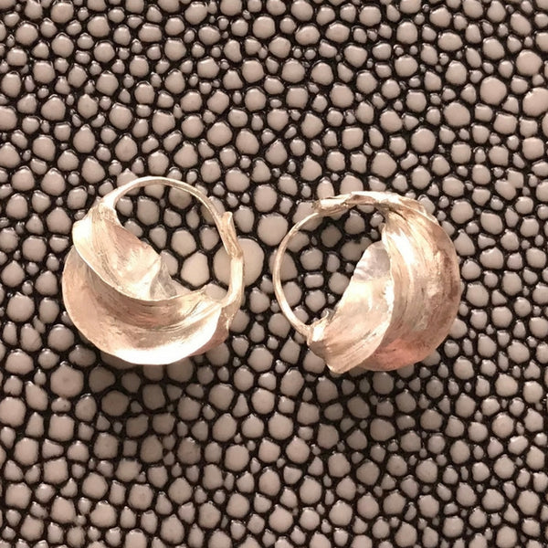 Malian Small Hammered Sterling Silver Earrings