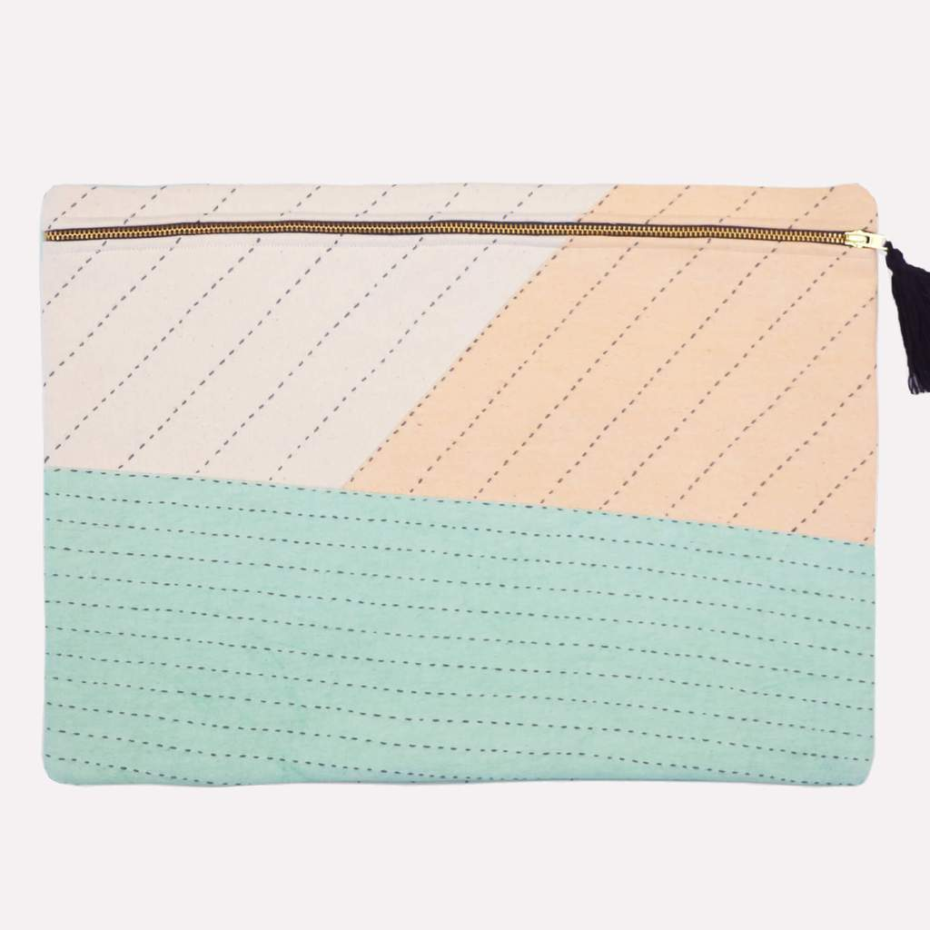ethical laptop sleeve bag made with organic cotton
