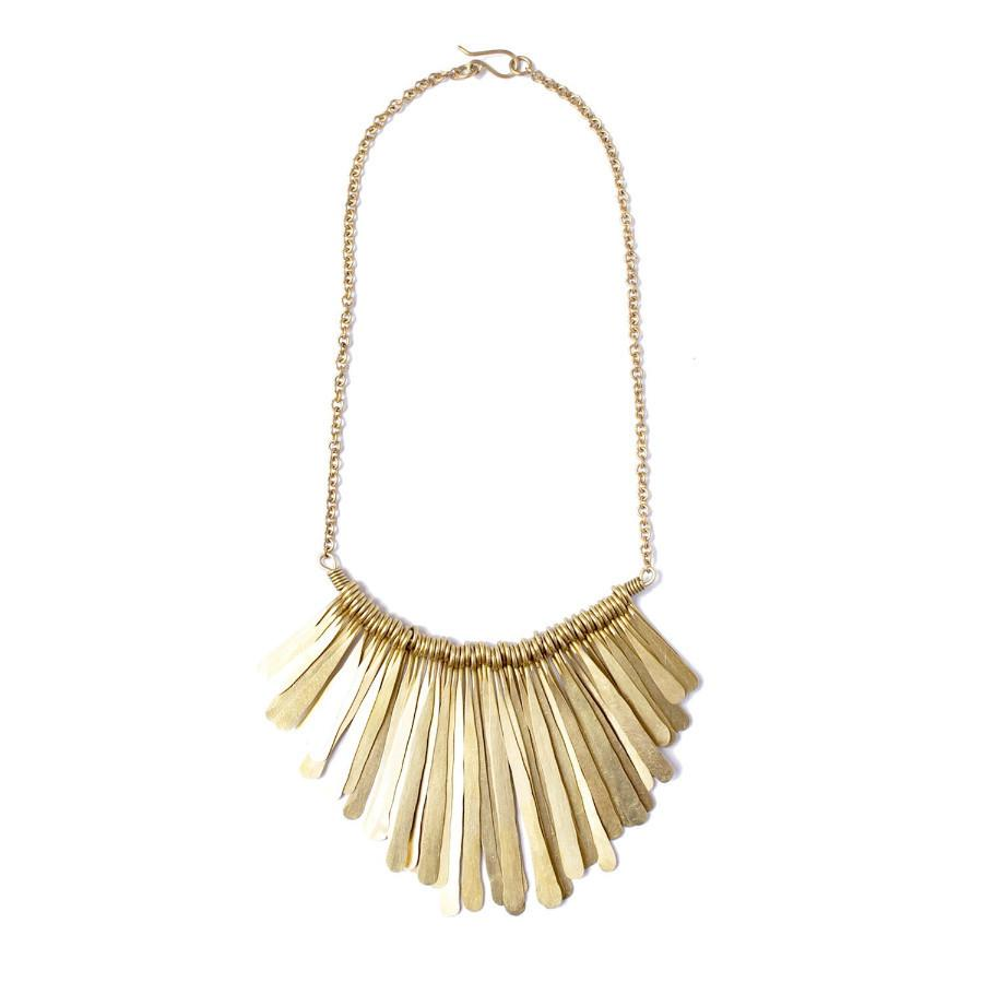 Brass Fringe Necklace
