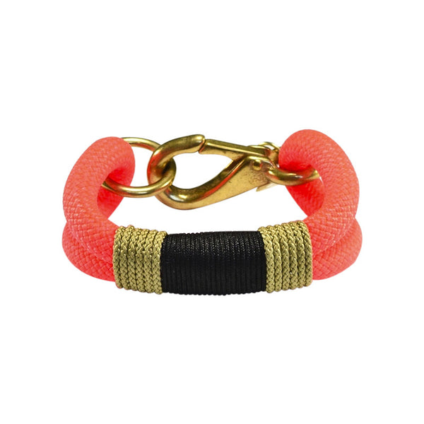 Safety Orange Black & Tan Bracelet