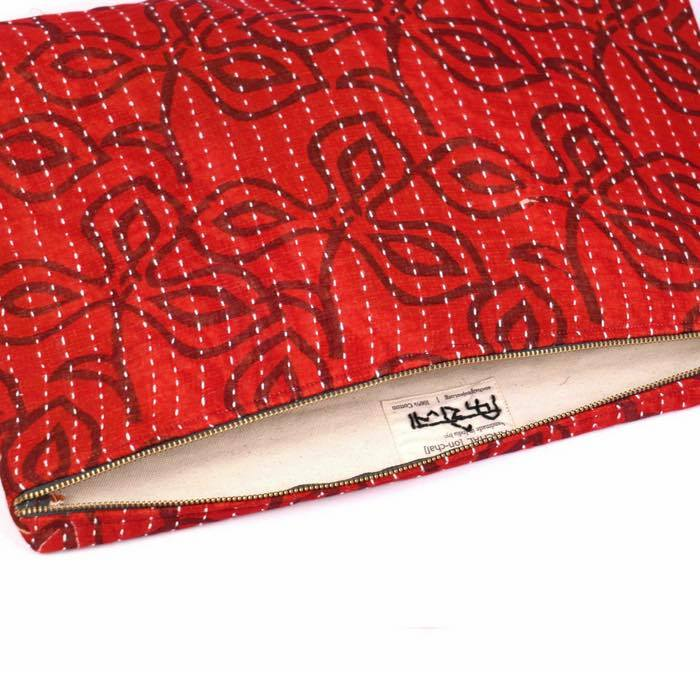 ethical fashion accessories hand made clutch bag or travel pouch, stand out in the crowd with this striking red bag