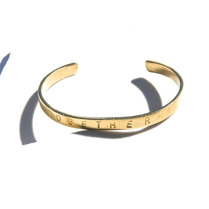 Sunday Tracker | The Ethical Fashion Store | Together Bracelet | Gold