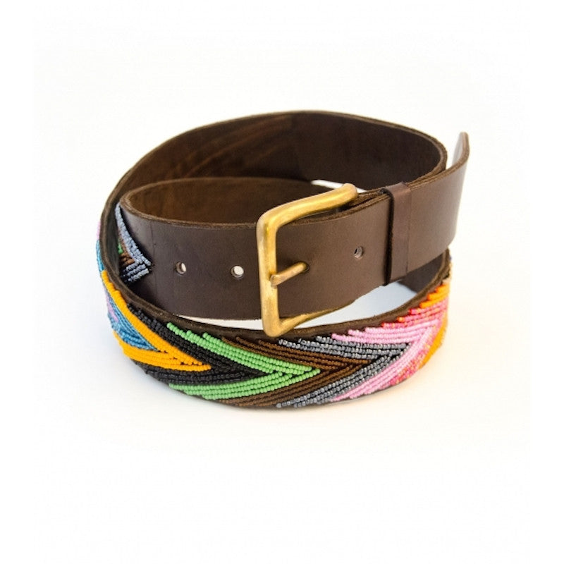 Aspiga Beaded Belt Arrow Multi Shine front