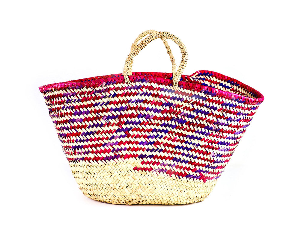 Country Colour Weave Basket - Purple