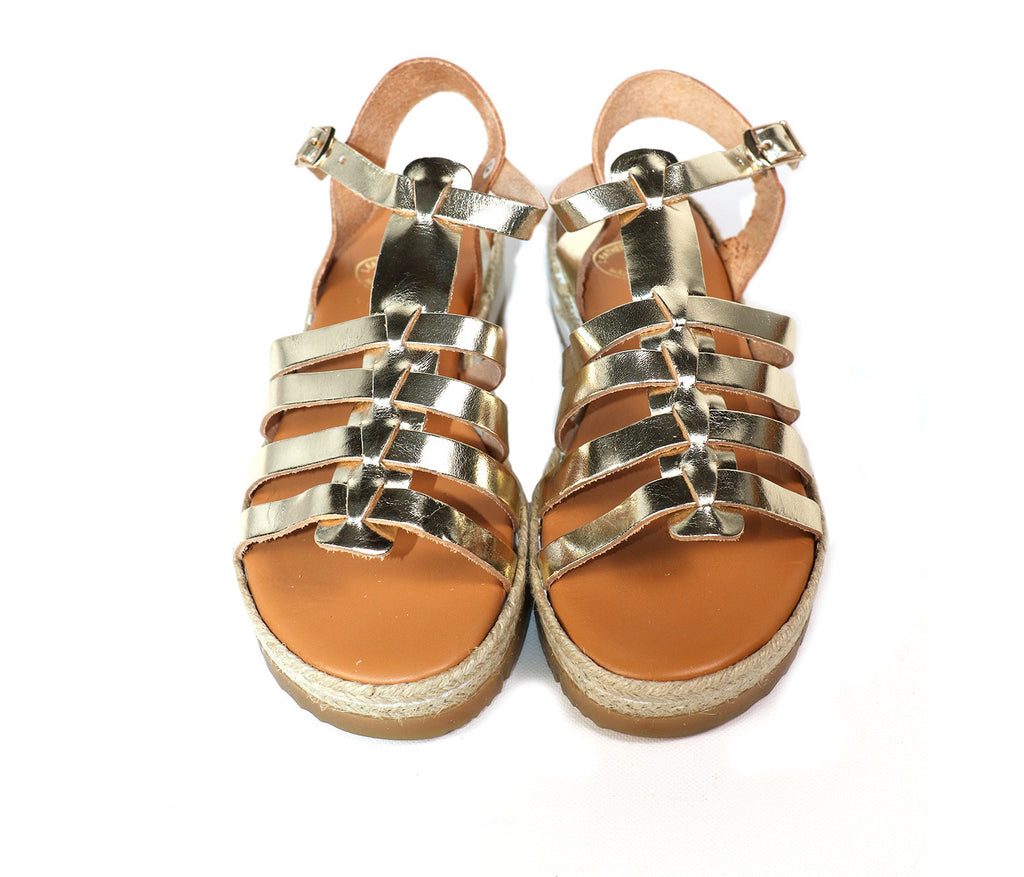 Sunday Tracker | The Ethical Fashion Store | Gold Gladiator Sandals