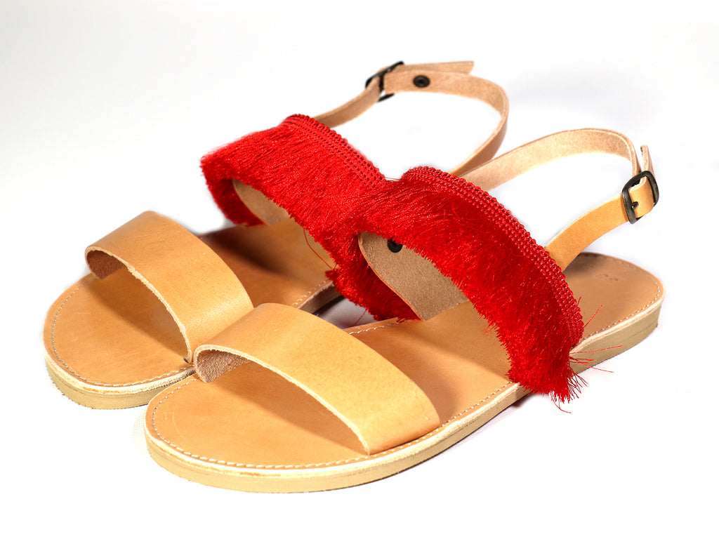 Sunday Tracker | The Ethical Fashion Store | Red Fringe Sandals