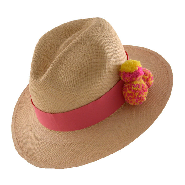 Shop Fair Trade Pom Pom panama hats at Sunday Tracker