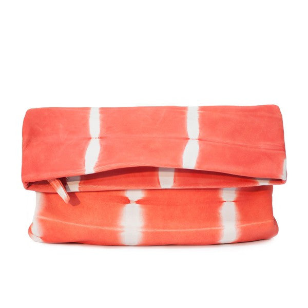 Sunday Tracker Sseko coral shibori clutch/crossbody