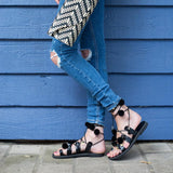 sunday-tracker-black-pom-pom-greek-sandals