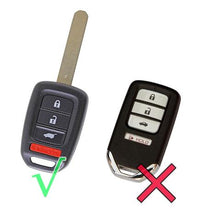 "Load image into Gallery viewer, Silicone Protective Rubber 4 Button Car Key Fob Remote Cover for Honda Sport LX ""Stick"" Civic HRV CRV (2013 and newer) [SKU: HONS4B]"