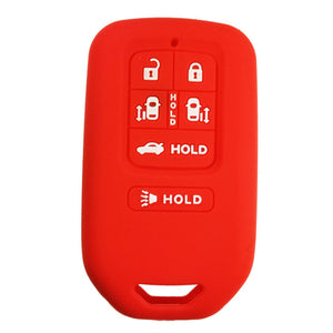 Silicone Protective Rubber 6 Button Car Smart Key Fob Remote Cover Case Jacket Skin for Honda [SKU: HONS6A]