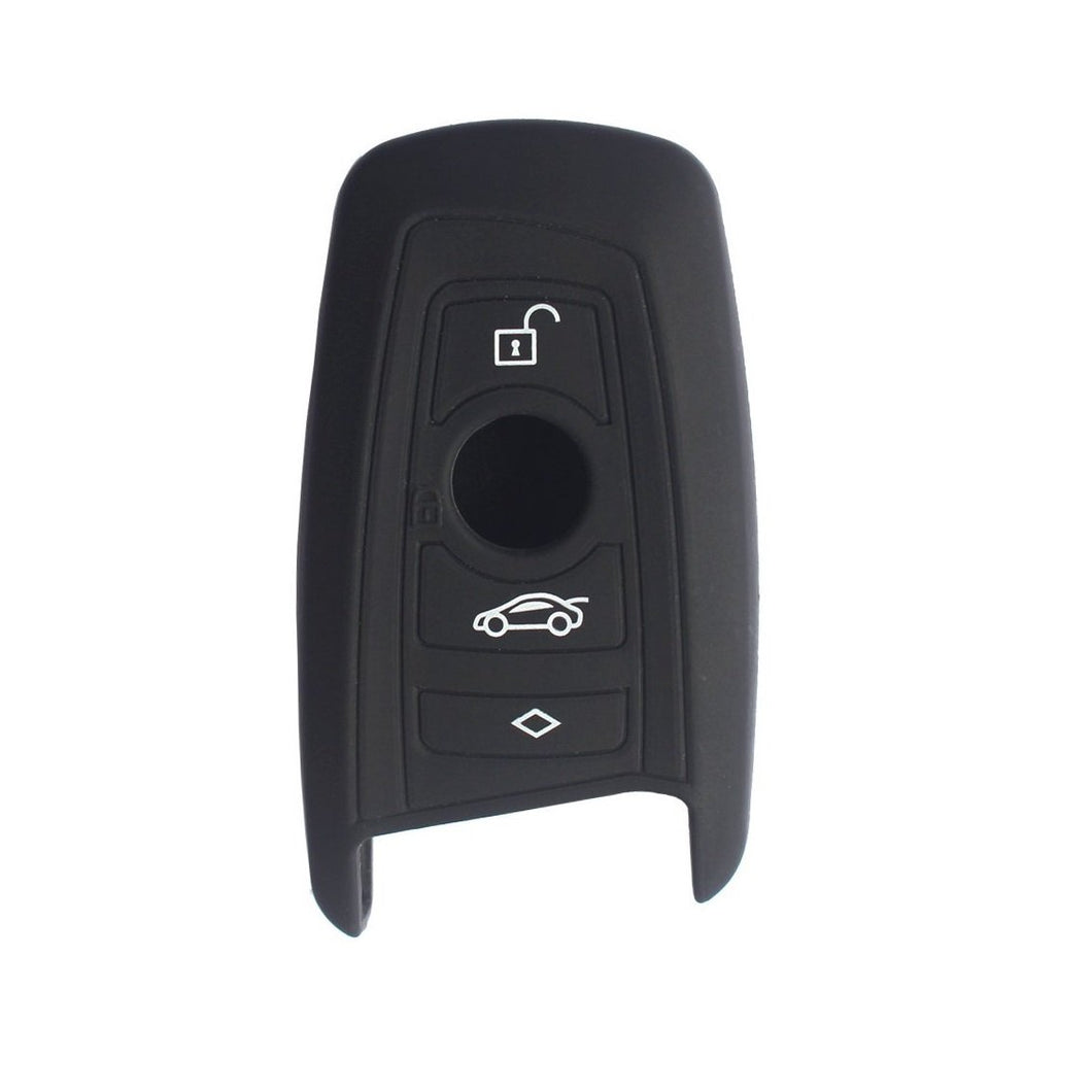 SILICONE 4 BUTTON SMART KEY FOB CASE COVER JACKET SKIN FOR BMW 1 3 4 5 6 7 SERIES