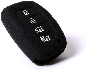 Silicone 4 Button Protective Rubber Key Fob Remote Case Cover Jacket Skin for Hyundai [SKU: HYUS4B]