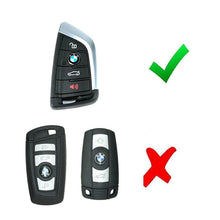 Load image into Gallery viewer, Silicone 4 Button Protective Car Key Fob Cover for BMW Blade Shaped Key BMW (2014 and newer) & Toyota Supra (2020 and newer) [SKU: BMWS4D]