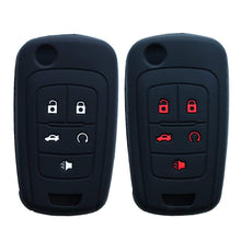 "Load image into Gallery viewer, Silicone 5 Button ""Flip"" Key Fob Remote Cover Jacket Skin for Chevrolet Camaro GMC Terrain Buick [SKU: GMS5C]"