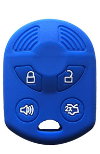 Silicone 4 Button Protective Rubber Key Remote Case Cover Jacket Skin for Ford [SKU: FRDS4B]
