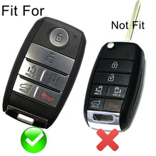 Load image into Gallery viewer, Silicone Protective Rubber 6 Button Car Key Keyless Entry Fob Remote Cover Case Jacket Skin for Kia [SKU: KIAS6A]