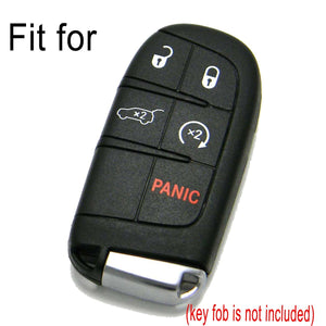 CHRYSLER DODGE JEEP 5 BUTTON SILICONE RUBBER SMART KEY REMOTE FOB COVER CASE [SKU: CDJS5A]