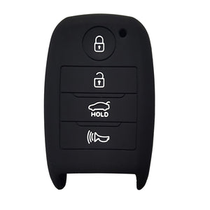 Silicone Protective Rubber 4 Button Car Key Keyless Entry Fob Remote Cover Case Jacket Skin for Kia [SKU: KIAS4A]