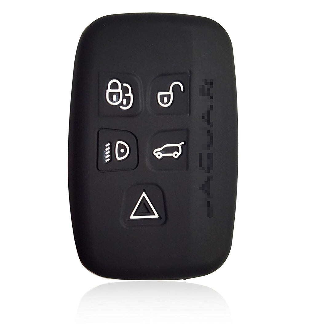 Silicone 5 Button Smart Key Fob Remote Case Cover Car for JAGUAR XK, XKR XF XFR XJ XJL S-Type X-Type F-Type [SKU: JAGS5B]