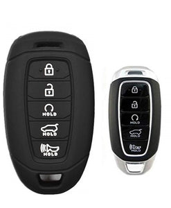 Silicone 5 Button Protective Rubber Key Fob Remote Case Cover Jacket Skin for Hyundai Palisade [SKU: HYUS5A]