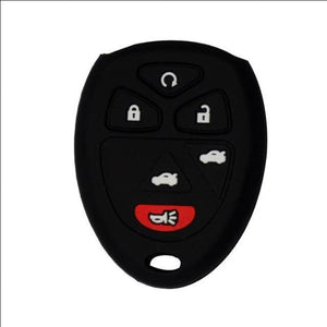 Silicone Rubber 6 Button Key Fob Remote Case Cover Jacket For Chevrolet, Chevy, Cadillac, GMC