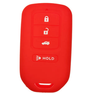 Silicone Protective Rubber 4 Button Car Smart Key Fob Remote Cover Case Jacket Skin for Honda [SKU: HONS4A]