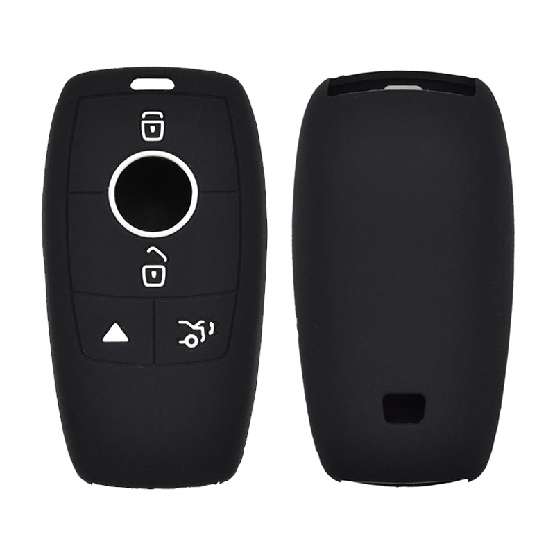 Silicone Protective Rubber 4 Button Car Key Keyless Entry Fob Remote Cover Case Jacket Skin for Mercedes Benz [SKU: BENZS4A]