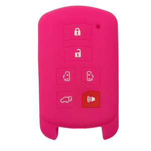 Protective Silicone Toyota Sienna 6 Button Smart Key Keyless Entry Fob Cover Remote Case Jacket Skin [SKU: TOYS6B]